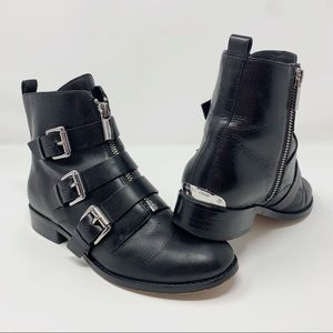 Micheal Kors Anya Buckled Ankle Boots 6.5